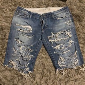 Extremely Distressed Ripped Joe's Bermuda Shorts